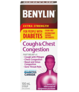 Benylin Extra Strength Cough & Chest Relief for People with Diabetes