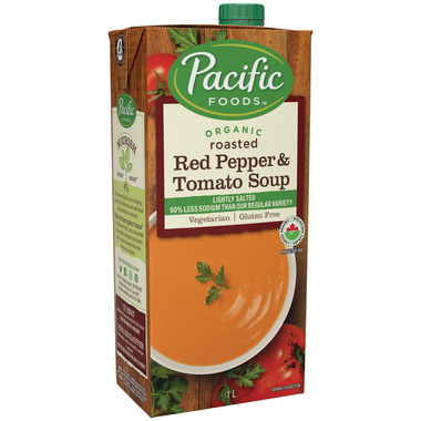 Pacific Organic Roasted Red Pepper & Tomato Soup Lightly Salted