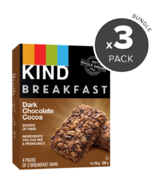 KIND Breakfast Bars Dark Chocolate Cocoa Bundle