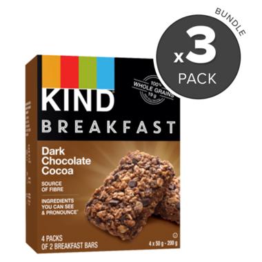 KIND Breakfast Bars Dark Chocolate Cocoa Bundle