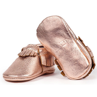 Freshly Picked Moccasins Rose Gold