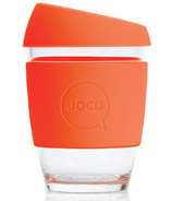JOCO Glass Reusable Coffee Cup in Orange