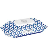 The Honest Company Honest Designer Collection Wipes Blue Ikat