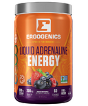 Ergogenics Nutrition Liquid Adrenaline Energy Berry Large