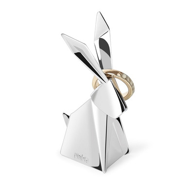 Umbra Origami Rabbit Ring Holder Chrome