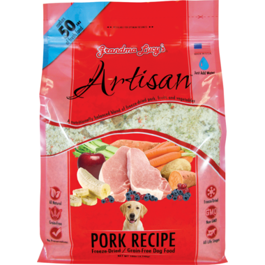 Grandma Lucy\'s Artisan Pork Recipe Freeze-Dried Grain-Free Dog Food