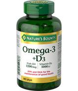 Nature's Bounty Omega 3 Fish Oil plus Vitamin D