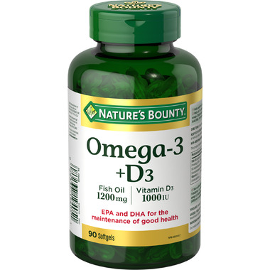Nature\'s Bounty Omega 3 Fish Oil plus Vitamin D