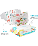 The Honest Company Into the Wild & Giraffes Diapers & Wipes Bundle Size 3