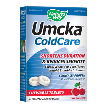 Nature\'s Way Umcka ColdCare Chewable Tablets