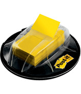 Post-it Desk Grip Dispenser With Flags Yellow