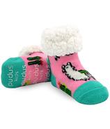 Pudus Classic Llama Pink Socks Kids
