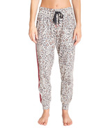 PJ Salvage Wild Heart Leopard Banded Jogger Pant Tan