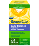 Renew Life Daily Balance Probiotic + Organic Prebiotics