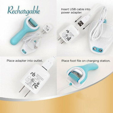 Amope Pedi Perfect Wet & Dry Rechargeable Waterproof Foot File