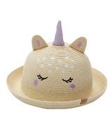FlapJackKids Kids Straw Hat Unicorn