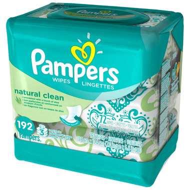 Pampers Natural Clean Wipes Travel Packs