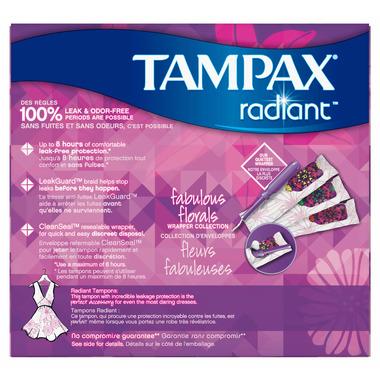 Tampax Radiant Regular Plastic Tampons