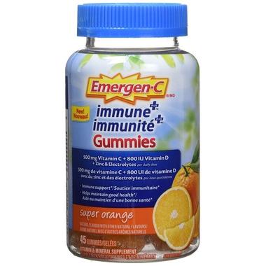 Emergen-C Immune Plus Gummies Super Orange