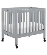 Babyletto Origami Collapsible Mini Crib Grey