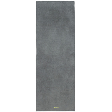 Gaiam Grippy Yoga Mat Towel Grey & Citron
