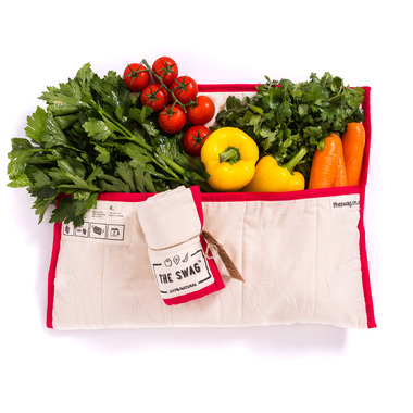 The Swag Produce Bag Long Red Trim