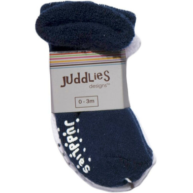 Juddlies Newborn Baby Socks Navy