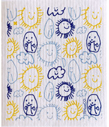 Ten and Co. Sponge Cloth Sun, Clouds and Potato People