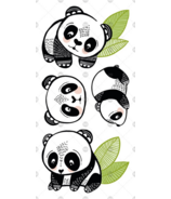 PiCO Temporary Tattoos The Cool Pandas