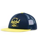 Herschel Supply Whaler Cap Mesh Soft Brim Youth Peacoat & Highlight