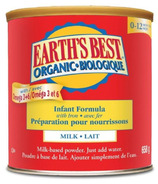 Earth's Best Organic Infant Formula with Iron 0-12 months