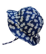 Twinklebelle Grow-With-Me Floppy Sun Hat Navy Pineapple