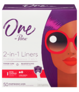 One by Poise Panty Liners 2-in-1 Period & Bladder Leakage Daily Liner Long