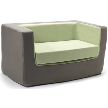 Monte Design Cubino Loveseat Charcoal & Green