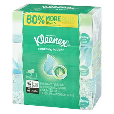 Kleenex Facial Tissue + Lotion