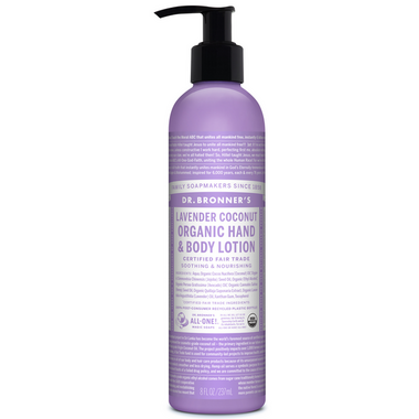 Dr. Bronner\'s Organic Lotion For Hands and Body Lavender Coconut