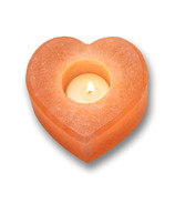 Heartfelt Living Heart Shape Salt Tea Light Holder