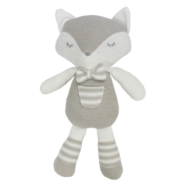 Living Textiles Grey and White Fox Charlie