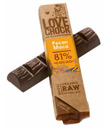 Lovechock Pecan Maca Raw Organic Chocolate Bar