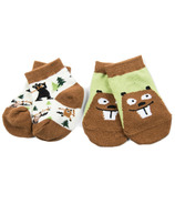 Hatley Little Blue House Baby Socks Beavers & Bears