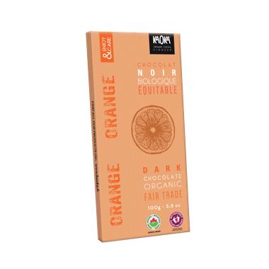 Kaoka Chocolate Bar Dark Orange Chocolate