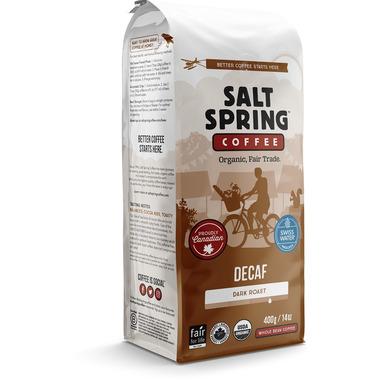 Salt Spring Coffee Decaf Dark Roast Whole Bean Coffee