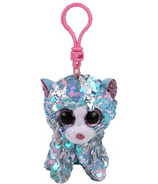 Ty Flippables Whimsy the Blue Cat Sequin Clip