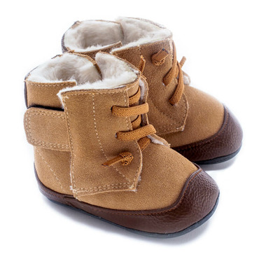 Jack & Lily My Mocs Boots Lace Suede Tan/Brown