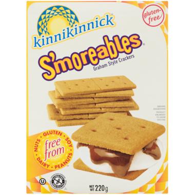 Kinnikinnick S\'moreables Gluten Free Graham Crackers