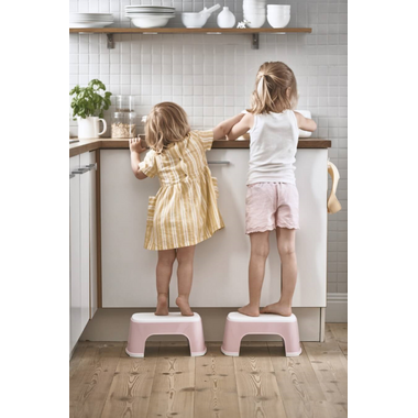 BabyBjorn Step Stool Powder Pink & White