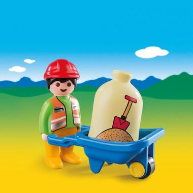 Playmobil 1.2.3 Worker with Wheelbarrow