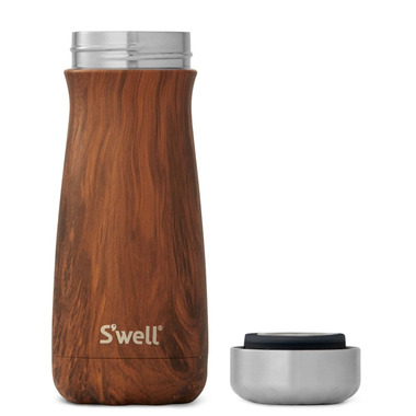 S\'well Traveler Stainless Steel Wide Mouth Bottle Teakwood