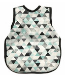 BapronBaby Bib Geometric Triangles Teal