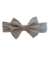 Baby Wisp Big Bow Headband Grey